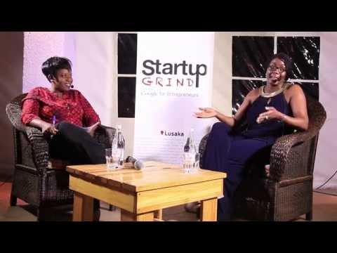 Monica Musonda (Java Foods) at Startup Grind Lusaka