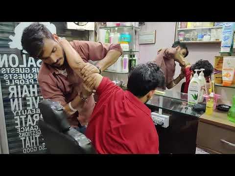 Intense Head Massage and Cracking | Indian Massage