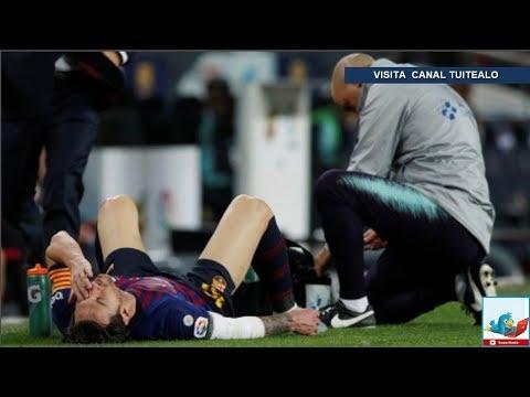 Messi se pierde el Clásico por fractura en el radio del brazo derecho será baja 3 semanas