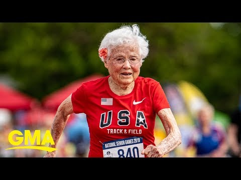 Kylie - GOOD VIBES: 'The Hurricane' 103-year-old track and field star takes gold