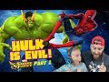 Team Spider-Man vs Evil Hulk! Marvel Strike Force Game Pt. 1