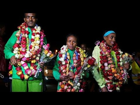 Ethiopian delegation returns from Rio without marathon runner Feyisa Lilesa