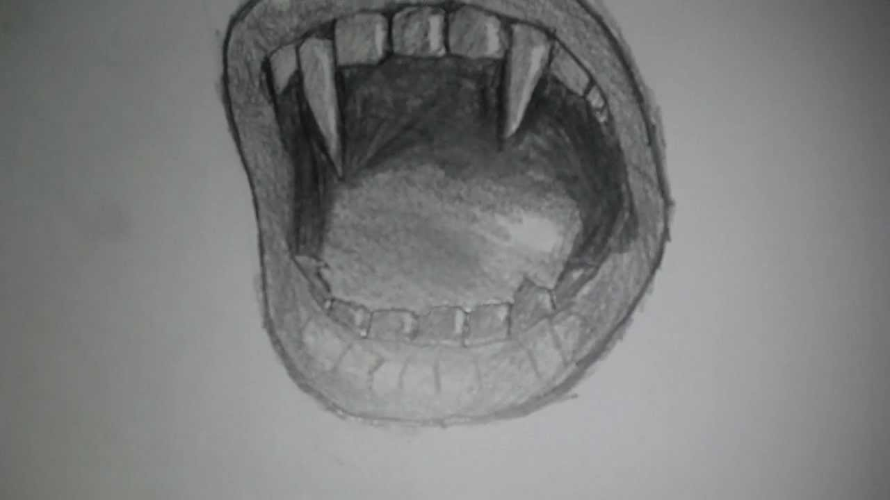 It is an image of Remarkable Angry Mouth Drawing