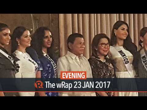 Duterte toasts the beauty of Miss Universe candidates