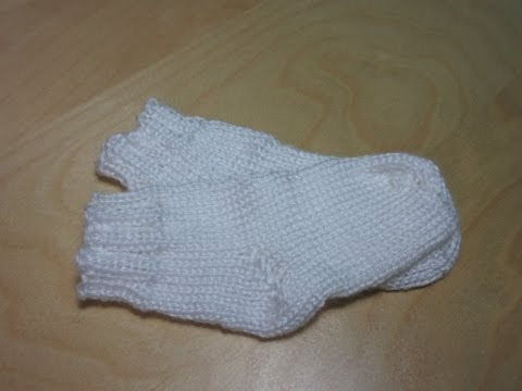 Como Tejer medias para bebé a dos agujas para principiantes