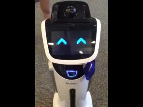 The cutest ever! Meet China's robot bank lobby manager