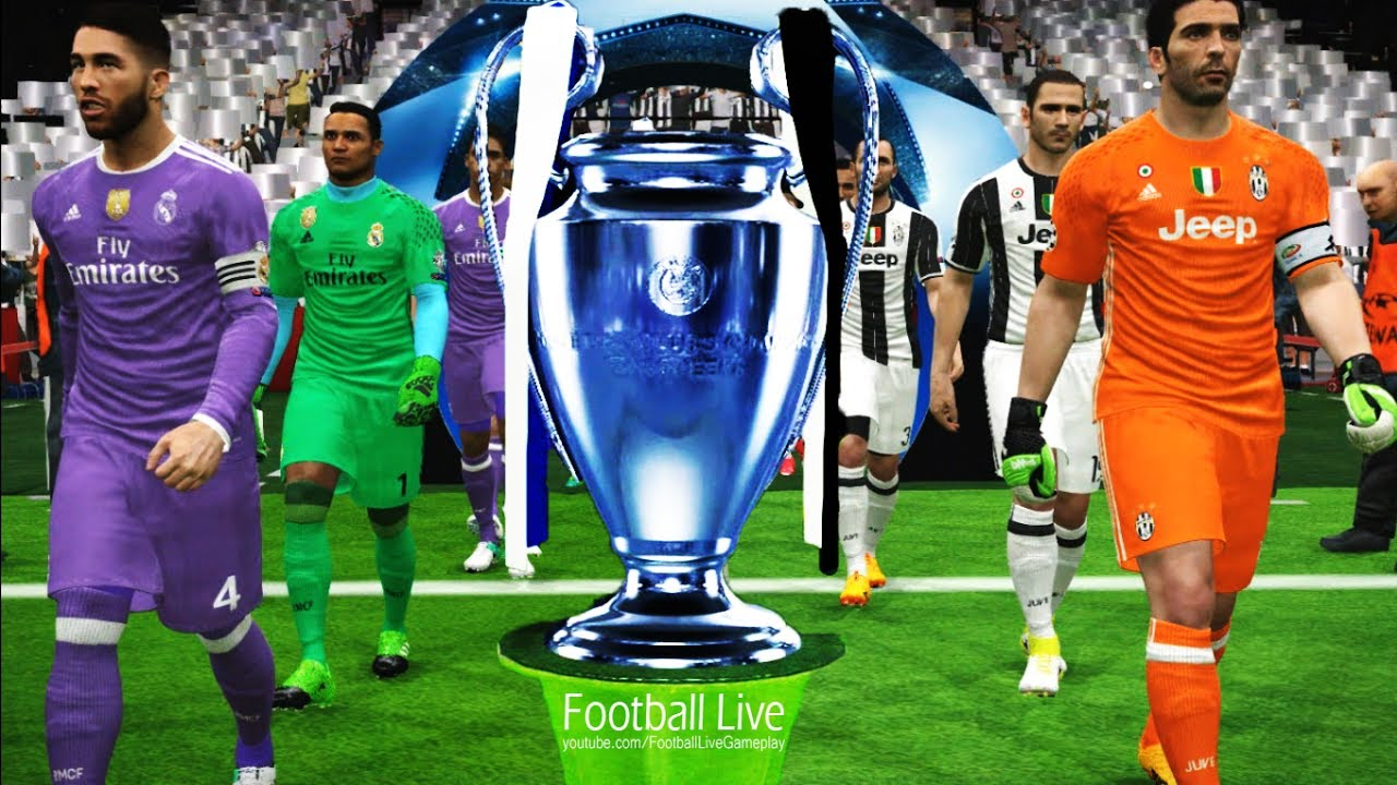 Pes 2017 Uefa Champions League Final Juventus Vs Real Madrid Full Match Penalty Shootout Youtube