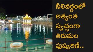 Crystal Clear Water In Tirumala Pushkarini Thanks to Lockdown