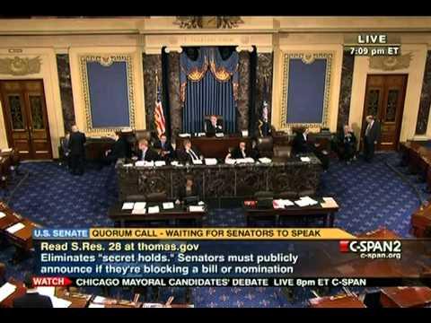 Senate Session 2011-01-27 (18:20:45-19:45:22)