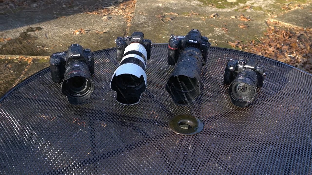 Water Torture Camera Test: Canon and Nikon Shine, Sony Fails