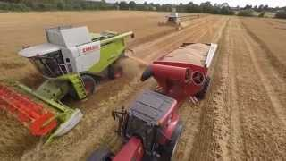 Glanbia Gluten Free Oats Harvest 2015 Drone Video Footage