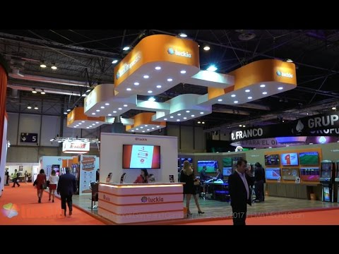 Video stand LUCKIA - International Game and Gambling Trade Show 2017 IFEMA Madrid Spain iStandVideo