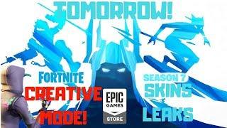Fortnite-Creative mode, Leakelt S7 skins, Magasin Epic!