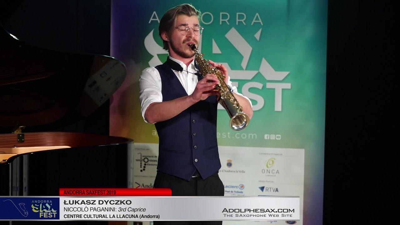Andorra SaxFest 2019 1st Round   Lukasz Dyczko   3rd Caprice by Niccolo Paganini