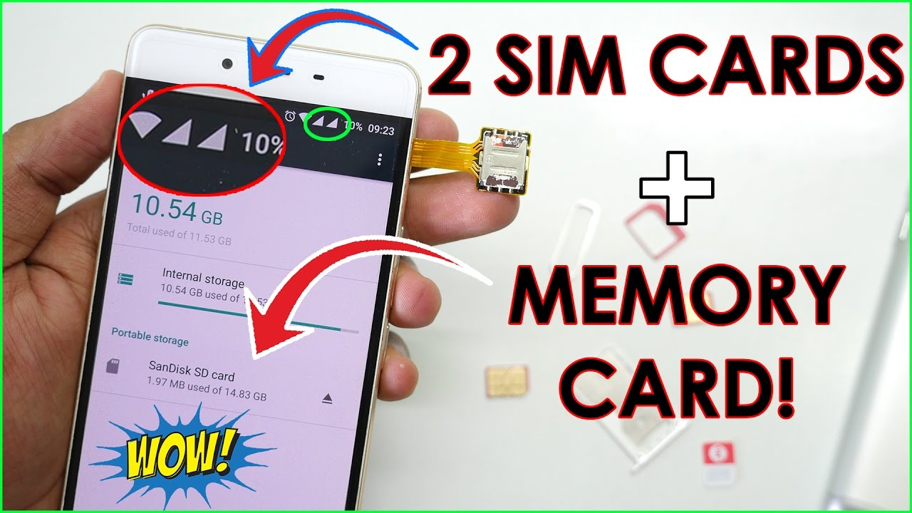 use dual sim memory card at the same time in any smartphone youtube. Black Bedroom Furniture Sets. Home Design Ideas