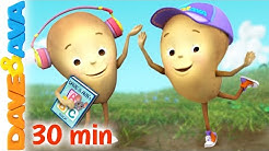 🐽 One Potato, Two Potatoes | Dave and Ava | Nursery Rhymes and Kids Songs 🐽