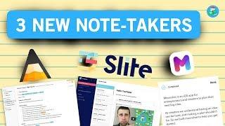 THE NEWEST NOTE-TAKING APPS | Agenda, Slite & Moonshot 📝