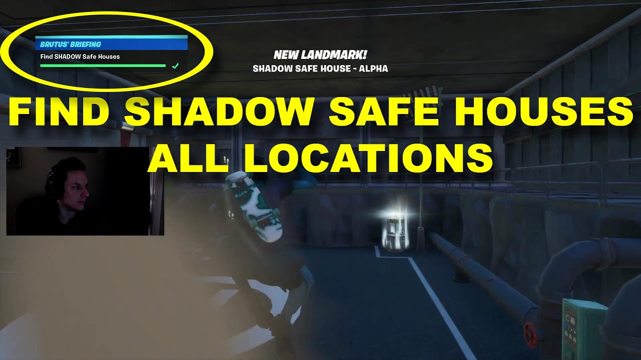Find Shadow Safe Houses All Locations Fortnite Battle Royale Brutus Briefing Youtube