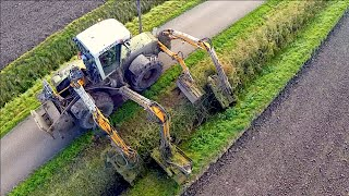 Claas Xerion 3300 VC Octopus | Ditch Bank Mower | Loonbedrijf Hack