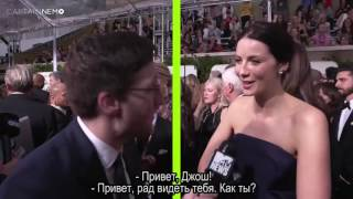 Caitrona Balfe Talk To MT News About S3 2017 Golden Globes