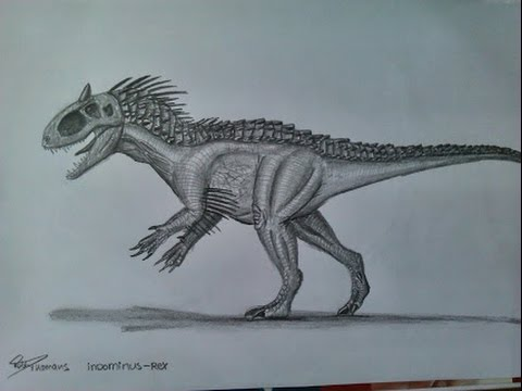 how to draw the indominus rex part 1 youtube