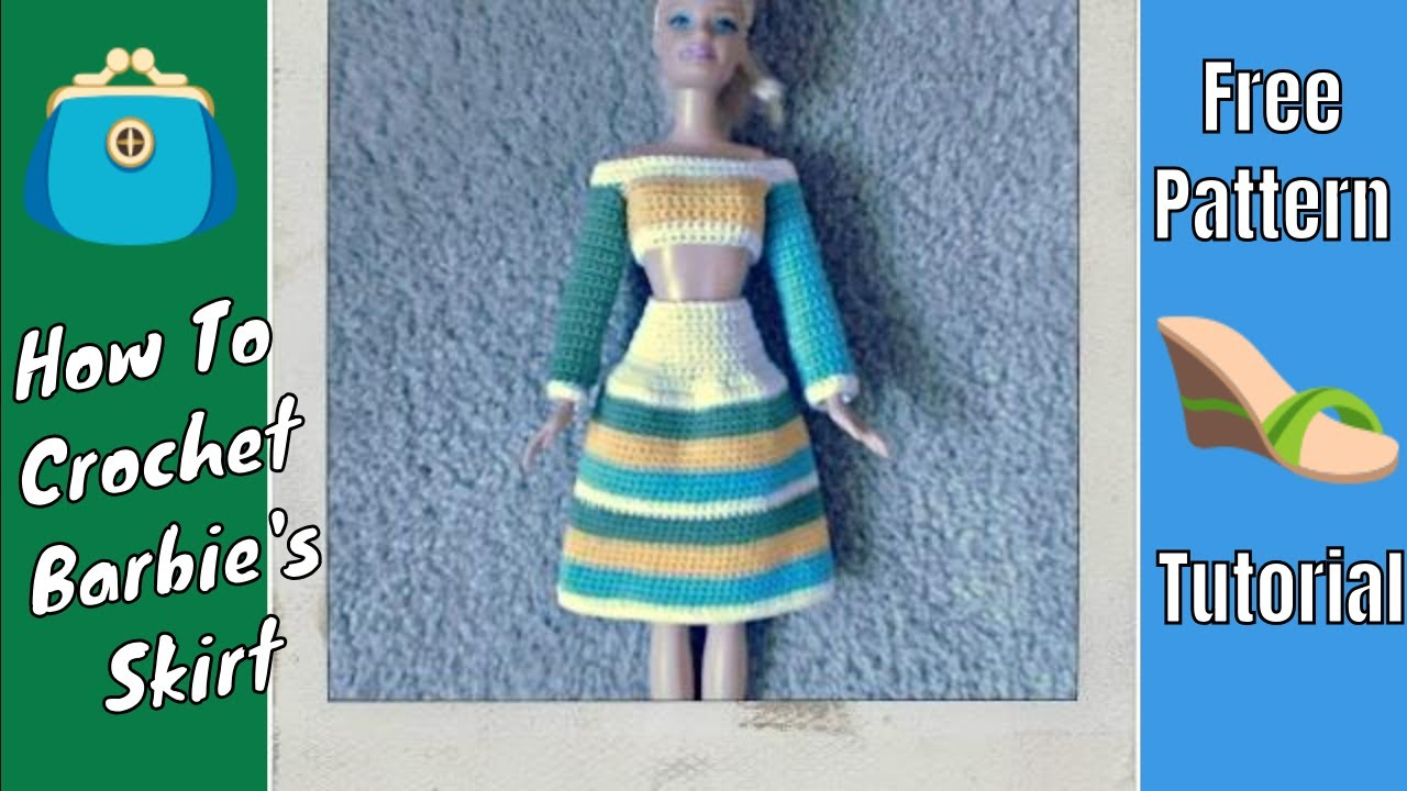 Barbie Clothes Multi Colored Skirt Youtube