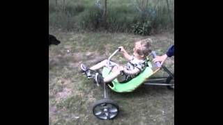 My handmade kid trike testing with its new owner