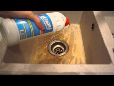 РАКОВИНА просто ТРЕШ // Как отмыть керамогранитную раковину легко и просто