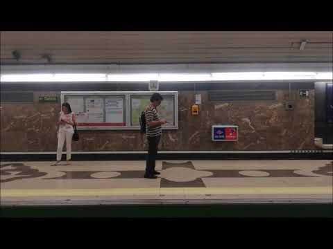 TRAYECTO DE METRO DE MADRID LINEA 9 DESDE AVDA DE AMERICA-COLOMBIA