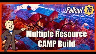 Fallout 76 Multiple Resource CAMP Build (Junk, Water & Adhesive)