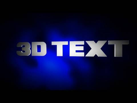 how to add 3d text in sony vegas