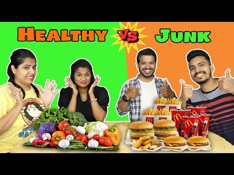 Healthy Food Vs Junk Food Challenge Part -2 | Hungry Birds thumbnail