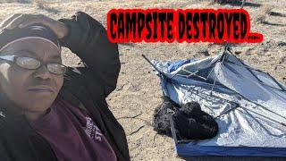 Fulltime Vanlife | Camṗsite Wrecked | Camping in Nevada