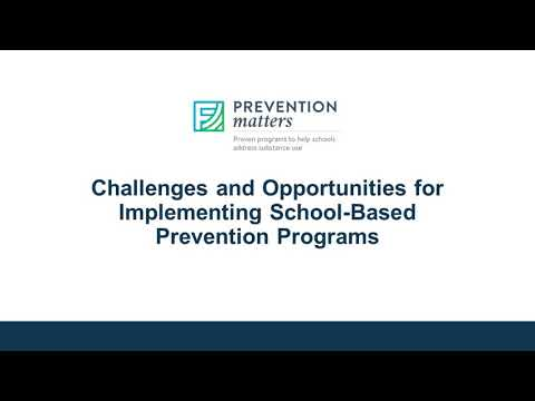 Prevention Matters Recorded Webinar - School Corporations and Archdiocese of Indianapolis