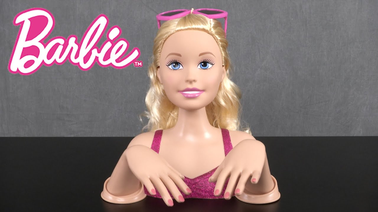 Barbie Crimp & Color Deluxe Styling Head from Just Play - YouTube
