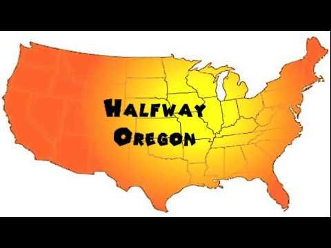 Halfway Oregon Map.How To Say Or Pronounce Usa Cities Halfway Oregon