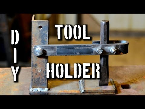 """""""Extra Hand"""" DIY Tool Holder: Fantastic Anvil Tool for Hot Punching Steel or Hot Cutting"""
