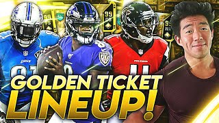"""I'm Back.. ALL """"GOLDEN TICKET"""" LINEUP! MOST EXPENSIVE TEAM IN THE GAME! Madden 20 Ultimate Team"""