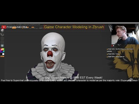 Live! FoxHound1984 - 3D Character Modeling - Digital Sculpt Fridays!