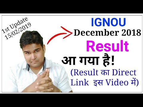 December 2018 Result Declared   First Update of IGNOU Result