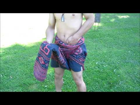 Boluthoan - How to tie a Sarong/Malong for men Part 1