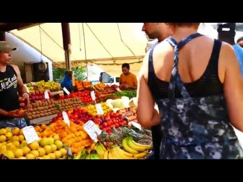 A Walk thru the Vegetable Market in the Varvakios Agora, Athens Greece