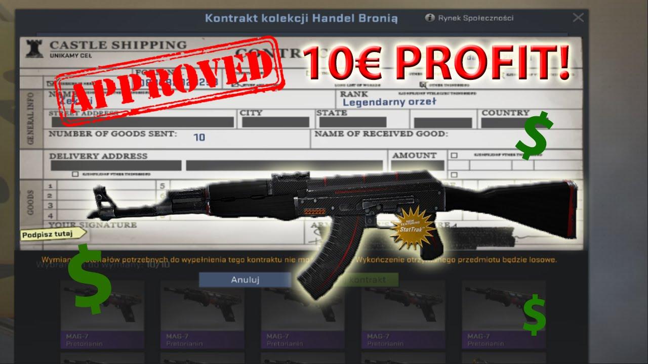 How To Earn Money In Csgo: Contract Ak 47 Redline  10€ Profit!
