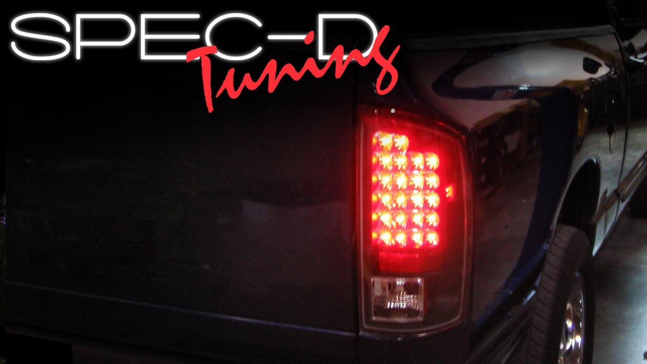 hight resolution of specdtuning installation video 2002 2005 dodge ram led tail lights youtube