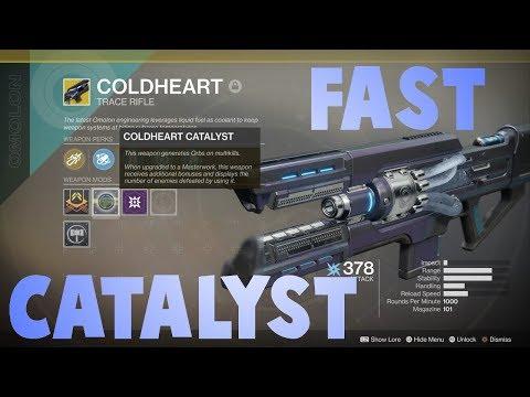 Destiny 2 Coldheart Catalyst! Best place to farm kills for