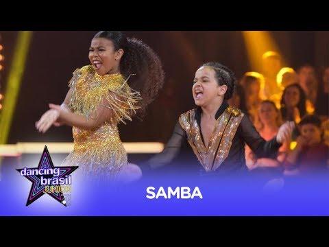 Leonardo Oliveira e Yasmin sambam muito e tiram nota máxima no Dancing Brasil Junior