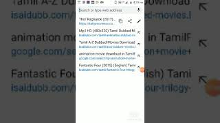 How to download Thor the rangnarok full movie in Tamil dubbed