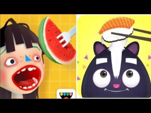 Toca Kitchen 2 VS TO-FU Oh!SUSHI FUN PLAY