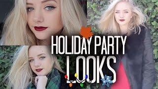 Holiday Party Makeup & Outfits | Maddi Bragg Thumbnail