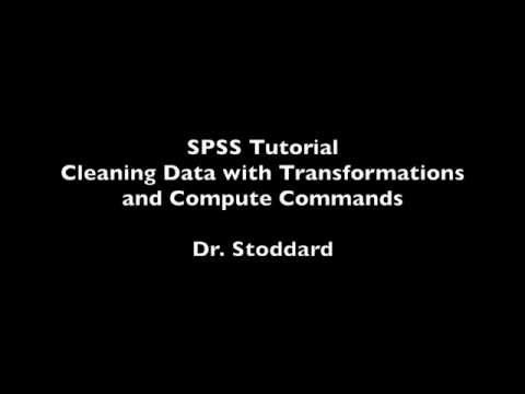 SPSS Tutorial    Cleaning Data with Transformation and Compute